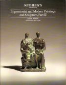 Impressionist and Modern Paintings and Sculpture Part II