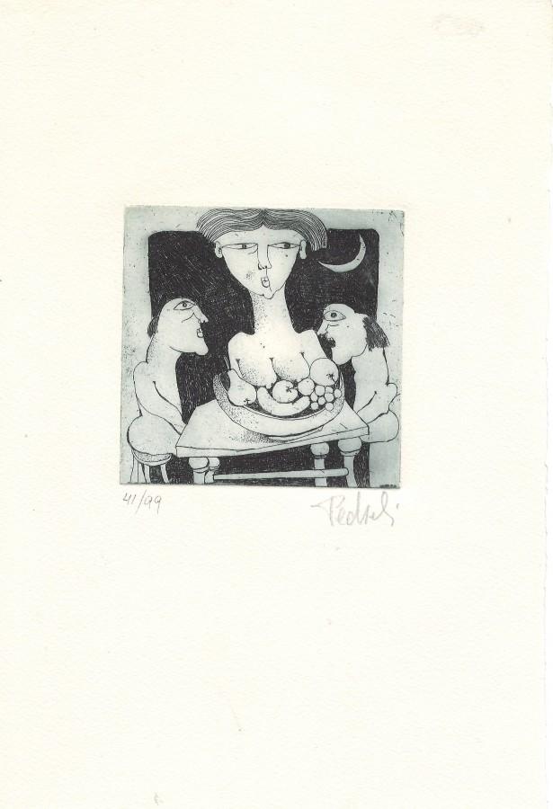 Incisioni di Gigi Pedroli 1973-1995 CON ACQUAFORTE ORIGINALE