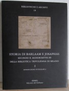 Storia di Barlaam e Josaphas secondo il manoscritto 89 della Biblioteca Trivulziana di Milano