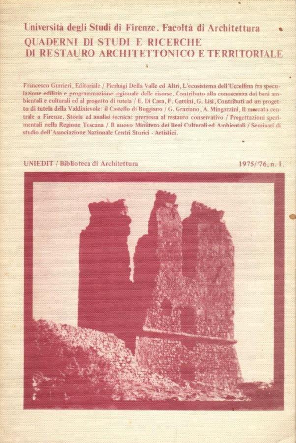 Quaderni di studi e ricerche di Restauro Architettonico e Territoriale