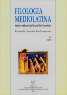 <h0>Filologia Mediolatina <span>XV - 2008 <Span><i>Studies in medieval latin texts and their transmission</i></span></h0>