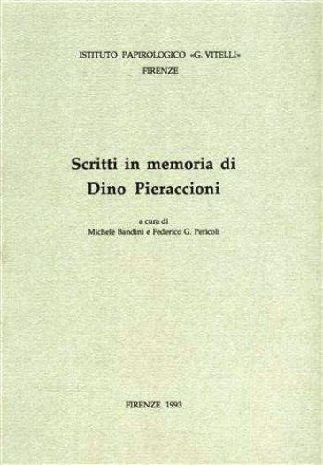 Scritti in memoria di Dino Pieraccioni