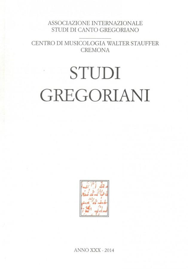 Studi Gregoriani Anno XXX - 2014