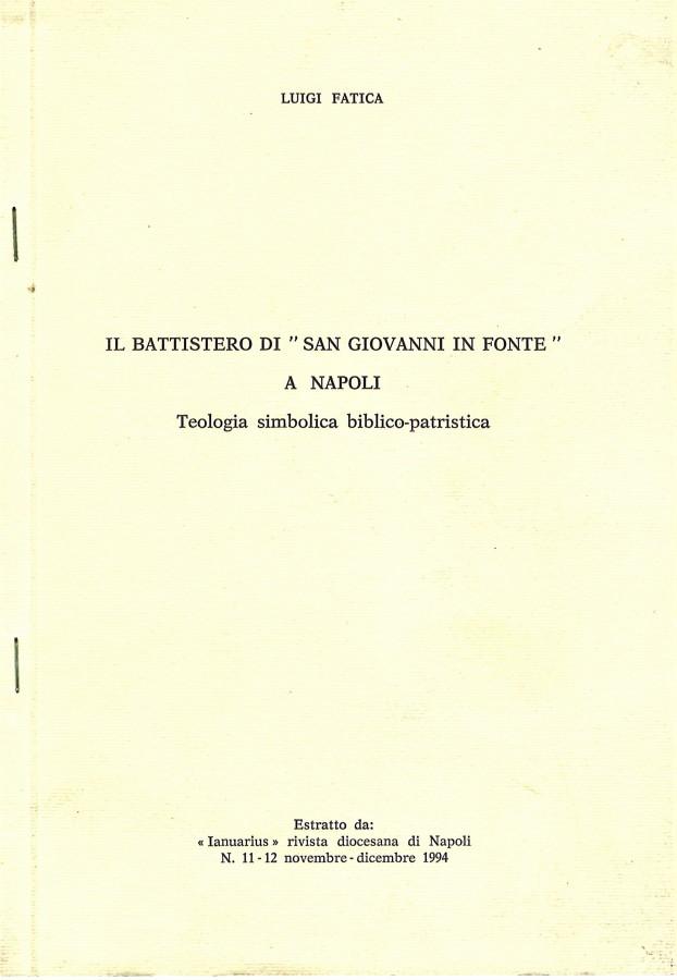 Il Battistero di 'San Giovanni in Fonte' a Napoli Teologia simbolico biblico-patristica